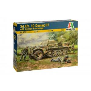 Kit vehicul militar Sd.Kfz.10 DEMAG D7 cu 4 soldati 1:35