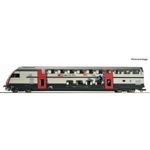 Vagon de calatori cu etaj,capat de tren, SBB, Epoca VI