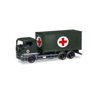Macheta camion MAN TGA XL cu container