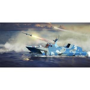 Kit de construit nava de razboi PLA Navy Type 22, Raketen Boot 1/144