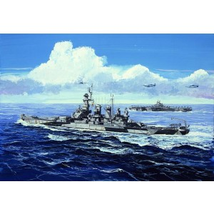 Kit de construit nava de razboi USS North Carolina BB-55 1/700