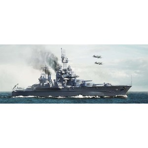 Kit de construit nava de razboi USS Maryland BB-46 1945 1/700