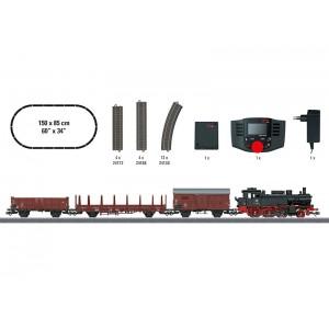 """Start set trenulet electric """"Tren de marfa"""" cu locomotiva cu abur,Epoca III,AC,Marklin"""