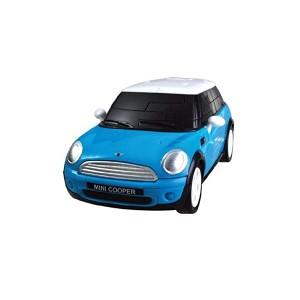 Kit de construit Mini Cooper albastru 1:32 Puzzle Fun 3D
