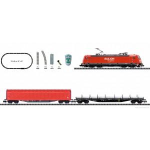 "Start set trenulet electric ""Tren de marfa"",cu locomotivă electrica clasa 185.2 si 2 vagoane marfa ,DB AG, Epoca VI N(1:160)"