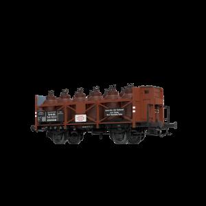 Vagon de marfa transport acid si cabina de franare Z[P] , DRG, Epoca II