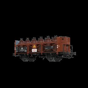 Vagon de marfa transport acid si cabina de franare Z , DR, Epoca III