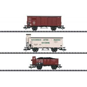 Set 3 vagoane de marfa,K.P.E.V., Epoca I