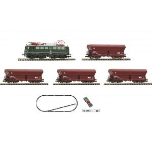 """Start set trenulet electric """"Tren de marfa"""",cu locomotivă electrica clasa 140 si 4 vagoane de marfa ,DB , Epoca IV N(1:160)"""