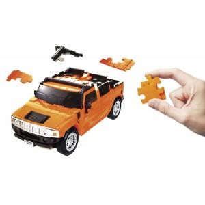 Kit de construit Hummer galben 1:32 Puzzle Fun 3D