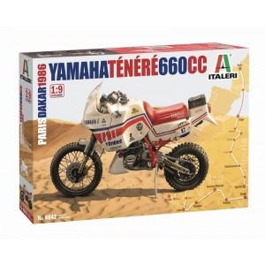 Kit de construit motocicleta YAMAHA Ténéré 660cc Paris Dakar 1986 1:9