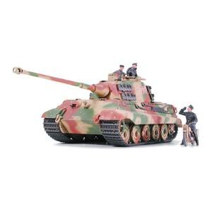 "Kit de construit tanc King Tiger ""Frontul Ardeni"" cu motocicleta militara germana DKW NZ350 si 3 figurine 1:35"