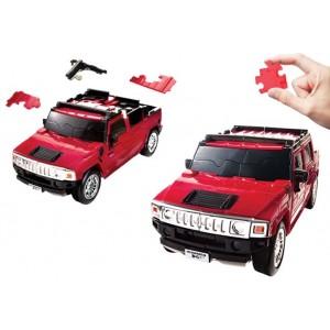 Kit de construit Hummer rosu 1:32 Puzzle Fun 3D
