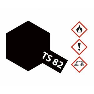 Vopsea Spray Tamiya TS-82 Negru cauciuc 100ml
