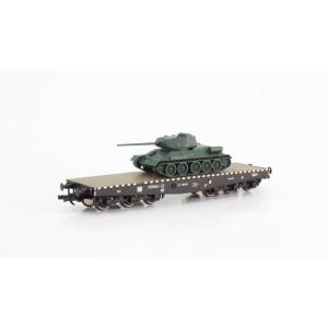 Vagon platforma cu transport tanc, CFR, Epoca III