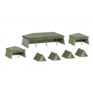 Kit de construit cort militar, Herpa 7 buc
