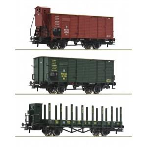 Set 3 vagoane de marfa K.Bay.Sts.B., Epoca I